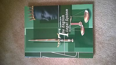 law book by Jacqueline martin the English legal system  4th edition