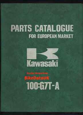 Genuine Kawasaki 100 G7TA (1975-1976) Parts List Manual Catalogue Book G7T-A