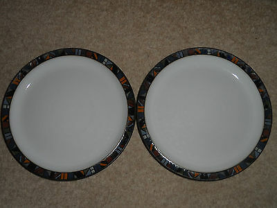 2 x DENBY MARRAKESH BEAUTIFUL SALAD / SIDE / DESSERT PLATES 8.5'' MORE AVAILABLE