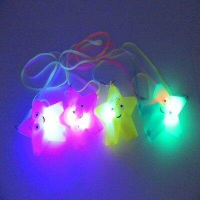 48Pcs Flashing Star Necklaces with Smile Face - Mixed