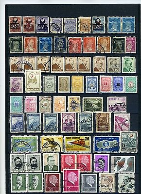 Turkey Stamps from 1900's good used group
