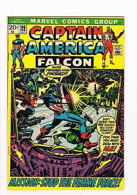 Captain America # 146  Femme Force grade 8.0 scarce hot book !!