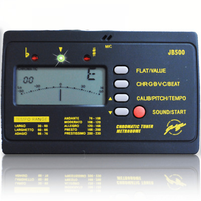 Electronic Tuner & Metronome inc Headphones and Microphone Guitar Bass Violin