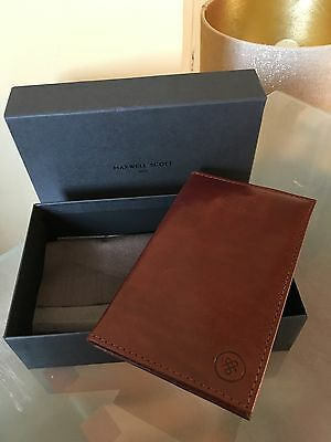 Maxwell Scott Brown Leather Golf Score Card Holder The Sestino Rrp £44