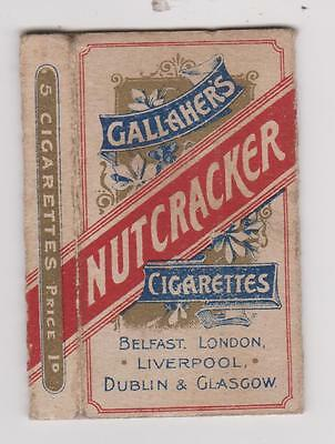 Rare Vintage Empty Packet Of 5 Gallaher's Nutcracker Cigarettes