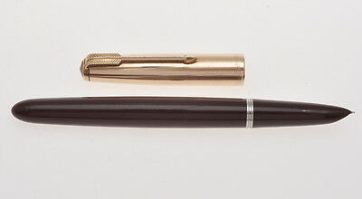 Parker 51 vintage Burgundy Red fountain pen gold filled cap exc++++