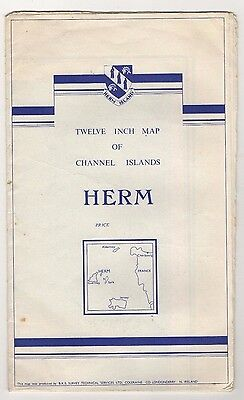 Herm Island Large Fold-Out Map