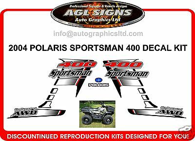 2004 POLARIS SPORTSMAN 400 AWD  ATV QUAD  DECAL SET, reproduction