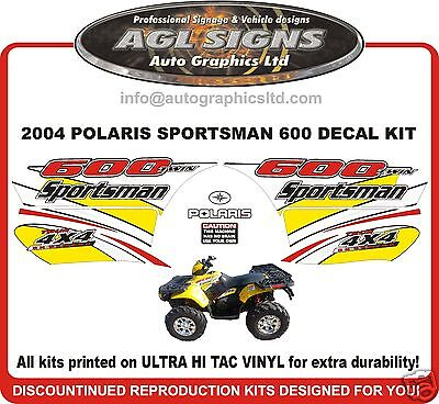 2004 POLARIS SPORTSMAN 600 TWIN 4X4  ATV  DECAL SET, reproduction