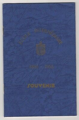 Guernsey 1955 Intermediate School Souvenir Booklet. Article On Occupation Years