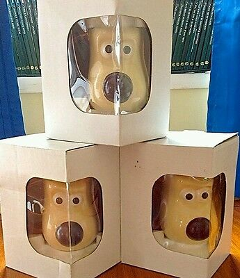 3 x WALLACE AND GROMIT MUGS COLOUR CHANGING NOSE