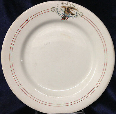 Wood & Sons Albert Pick Chicago Eagle 13 States Stars Salad Plate Restaurant Usr