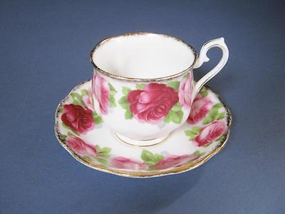 Royal Albert Old English Rose Tea Cup and Saucer Set