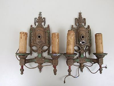 Set of Two Antique Wall Sconces