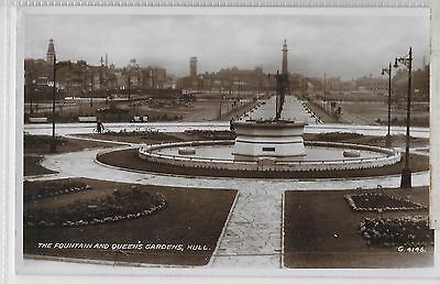 Hull Yorkshire - The Fountain And Queen's Gardens