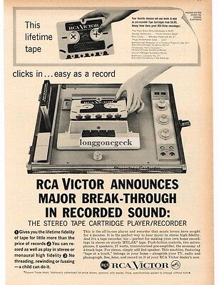 1959 RCA VICTOR Stereo Tape Cartridge Player Recorder VTG PRINT AD