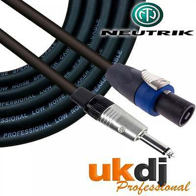 "3m SpeakON® - 1/4"" Neutrik Jack 6.35mm To Speakon Passive Speaker Cable PA OFC"
