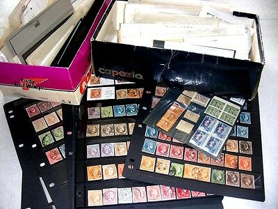 GREECE, 100'S of Hermes Heads, Spectacular Accumulation of Stamps in glassines