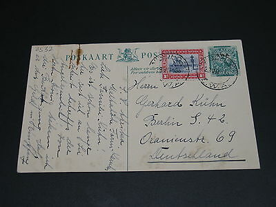 South West Africa 1933? postal card to Germany *2532