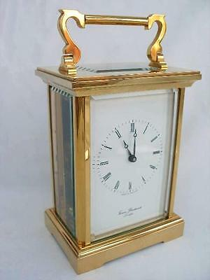 Superb Contemporary 8 Day Brass Carriage Clock By Thomas Braithwaite of london.