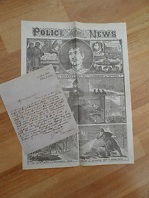 Jack the Ripper  Letter & The Illustrated Police News  ~  1888