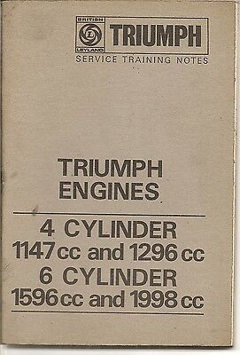 Triumph Engines 4 & 6 Cylinder Training Notes 1969