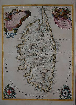 A Map Of The Island Of Corsica By Coronelli 1692