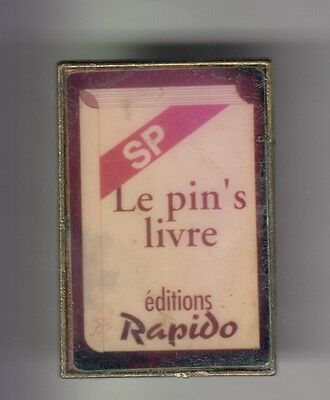 Rare Pins Pin's .. Salon Show Expo Fabricant Livre Sp Editions Rapido Epoxy ~Cw