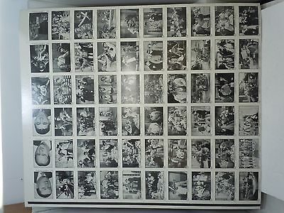 UNCUT THREE 3 STOOGES TRADING CARD SHEET 1989 #1-60 Vintage Columbia Pictures