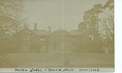 HEREFORDSHIRE RP of Poston Lodge and Round House, Vowchurch @1908