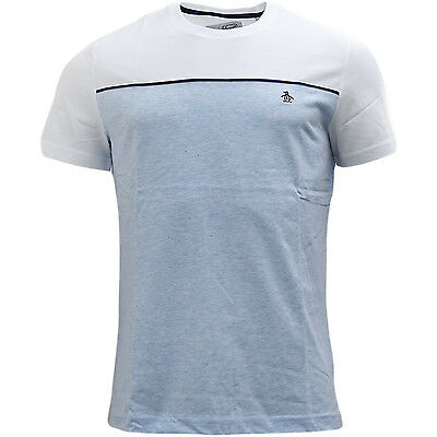 Original Penguin White And Blue Marl T-Shirt - 7038-429