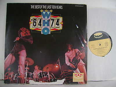 """2 x 12"""" LP The Who - Best of the last ten years / `64- `74 - (vg++) 2674 017 /"""