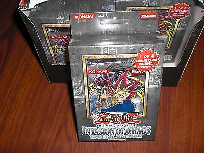 Yugioh Invasion of Chaos Special Edition 3-Pack Box w/ Ultra Rare Promo IOC Card