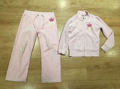 Juicy Couture Pink Velor Tracksuit Age 4