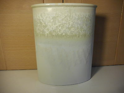 """Portmeirion The Starfire Collection Opal Julian Teed White Pottery Vase 9 1/4"""""""
