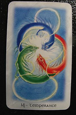 14-Temperance The Celtic Dragon Tarot Single Replacement Card Excellent