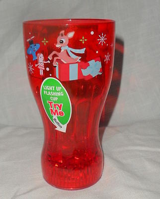 New Rudolph The Red Nose Reindeer Flashing Lights Drinking Cup