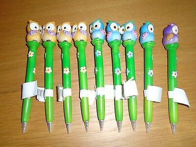 9 x owl pens, BN, party favours stocking fillers