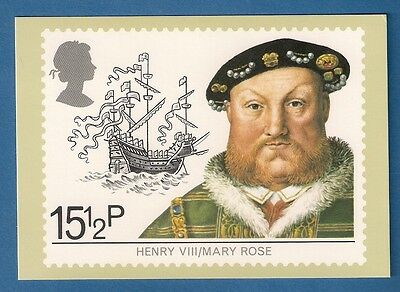 1982   **  Royal Mail Phq Postcard  ****   Henry V111 - The Mary Rose   ***
