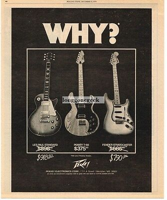 1979 PEAVEY T-60 Electric Guitar Why Pay More Vtg Print Ad