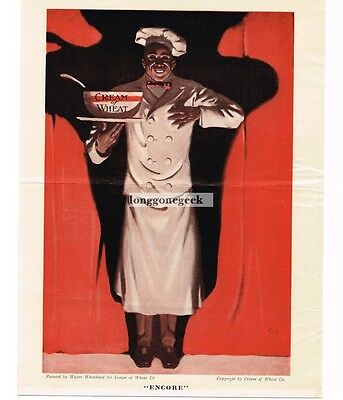 """1921 CREAM OF WHEAT Cereal """"Encore"""" art by Walter Whitehead Vtg Print Ad"""