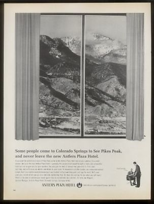 1967 Pikes Peak photo Antlers Plaza Hotel Co Springs ad