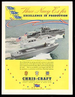 1942 Chris-Craft boat US Army Q Boat Navy Picket and Landing boats photo ad