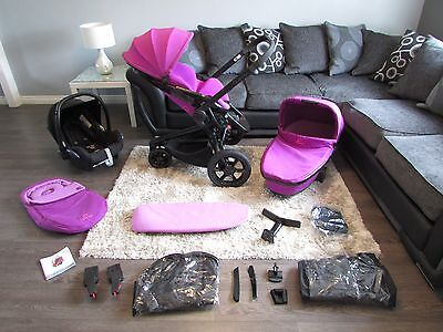 Quinny Moodd Travel System Violet Focus Maxi Cosi Car Seat Mood