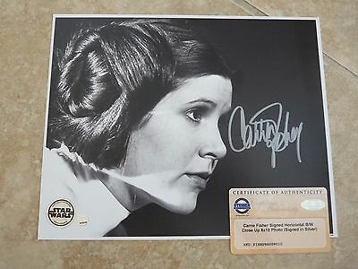 Carrie Fisher Star Wars Signed Autographed 8x10 Photo Steiner Certified #1