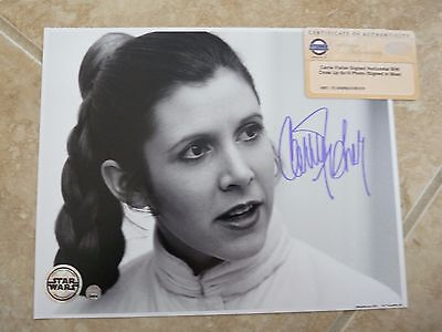 Carrie Fisher Star Wars Signed Autographed 8x10 Photo Steiner Certified #2