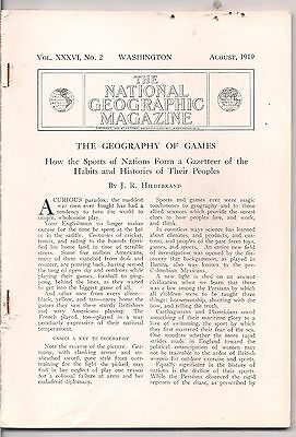 national geographic-AUG 1919-THE GEOGRAPHY OF GAMES.