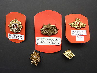 Five WWII Canadian Collar Badges