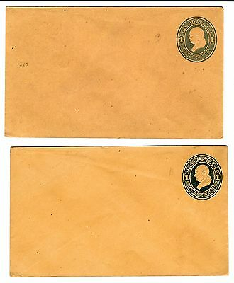 B484 USA stationery ps entire ps envelopes U116 &116a lite & dark blue scarce