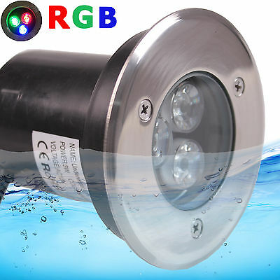 3W RGB LEDs Pool Lights AC12V Underwater Pond Spot Light SpotLigh Waterproof